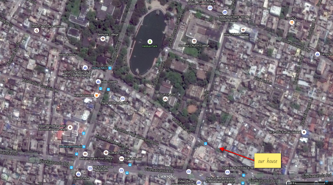 map of kolkata with our house