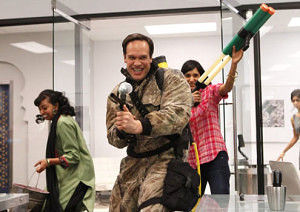 Diedrich Bader got the joy of saying the most off-color things as the Offensive American - yet his character grew and evolved too.
