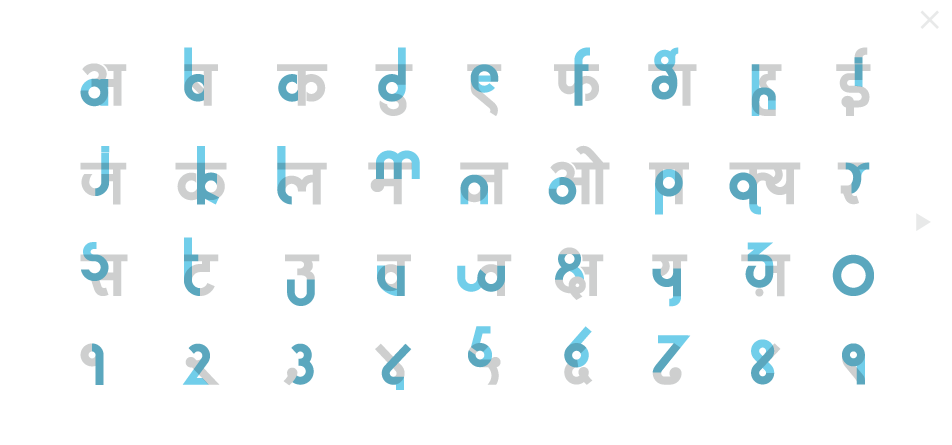 Can you learn Hindi - with a font?